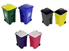 Mini Trash Recycle Can Set Pencil Cups