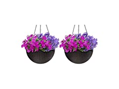 Self-Watering Hanging Planters 2pk
