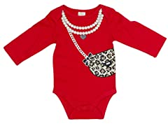 Pearls & Purse - Red (0-9M)