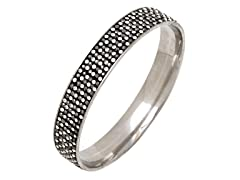 Stainless Steel 6-Lines Crystal Bangle