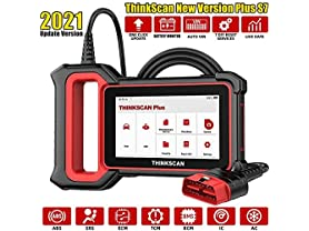 """THINKCAR ThinkScan OBD2 System Diagnostic Scanner comes with Optional 5 Reset Functions, 5"""" Touchscreen, One-Click Wi-Fi Update"""