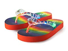 Light Up Flip-Flops - Rainbow sz 11