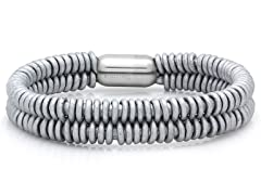 Leather Bracelet, Metallic