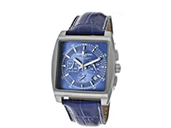 Blue Chronograph Leather Watch