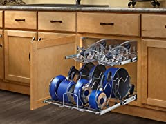 Large Two-Tier Cookware Organizer, 20.5""