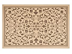 Courtyard 2-PC  Rug Set - Natural/Choc