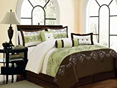 Lilly 7pc Comforter Set - Sage - 2 Sizes