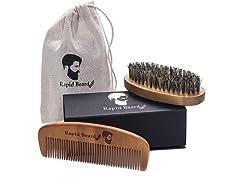 Rapid Beard Beard Brush and Beard Comb Kit