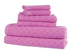6-Piece Bath Towel Set-3 Colors