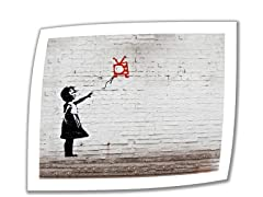 Banksy Balloon TV Girl - Rolled Canvas