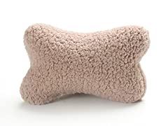 Dog Bone Pillow - Beige