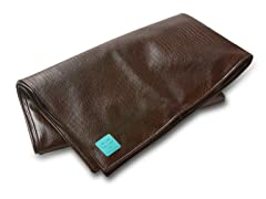 "50""x 45"" Faux Leather Chocolate Play Mat"