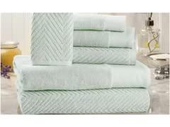 Homespun 600 GSM 6-Piece 100% Cotton Towel Set