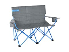 Loveseat Camp Chair Smoke/Paradise Blue