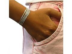 SS 3-Row Herringbone Bracelet