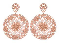 18kt Rose Gold Plated Full Bloom Earring