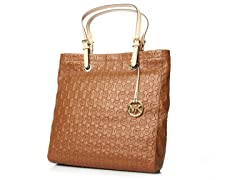 MK Jet Set Tote, Brown Leather