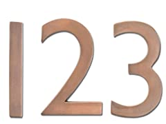 House Numbers in Antique Copper