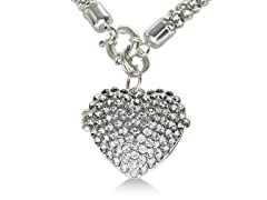 Super Shimmery Swarovski Crystal Heart Locket