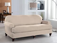 Sofa- T Stretch Fit Slipcover- Multiple Colors