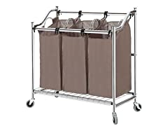 Storage Maniac 3-Section Heavy Duty Laundry Hamper Sorter
