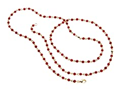18k Plated Dyed Ruby Stone Necklace