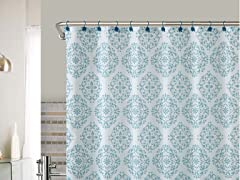 Ashur Embossed Shower Curtain - 2 Colors
