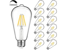 MAXvolador Dimmable LED Edison Bulbs