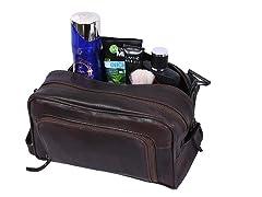 Addey Supply Company Leather Toiletry Bag (Walnut)