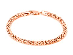 18K Rose Gold Coreana Chain Bracelet