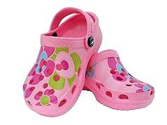 Pink Flower Clog