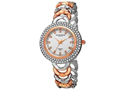 Akribos XXIV Women's Quartz Diamond Markers Watch