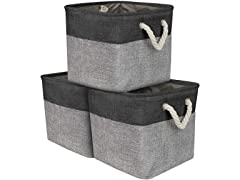 Cube Twill Storage Basket Set