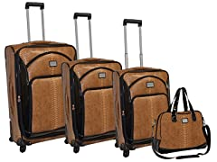 Patent Croc. 4-Piece Luggage Set