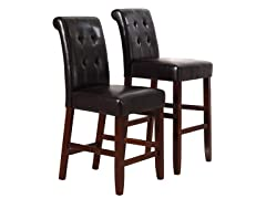 "Cosmopolitan 29"" Barstool Set of 2"
