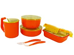 Orange Meals On The Go Feeding Set