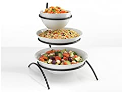 3-Tier Serving Rack with 3 Bowls