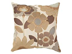Acadia Modern Floral 18-inch Pillow