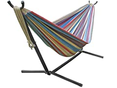Double Hammock with Stand, Your Choice