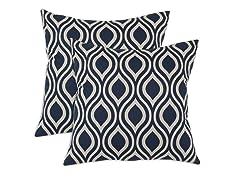 Nichole 17x17 Pillows - Indigo - Set of 2