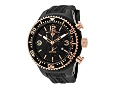 Men's Neptune Chronograph, Black / Rose Gold