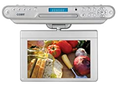 """Coby 10.2"""" Under-The-Cabinet DVD/CD/TV"""