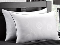 2Pk MicronOne White Down Firm Pillow