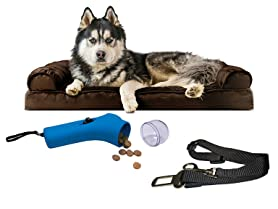FurHaven Plush Sofa Pet Bed Bundles (Your Choice)