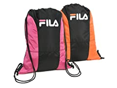 Fila Fuchsia & Orange X4 Sackpack 2-Pack