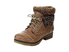 Refresh Womens Combat Style Lace Up Ankle Bootie
