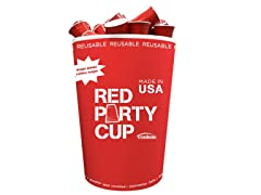 Trudeau 60-Piece Red Party Cups & Bin