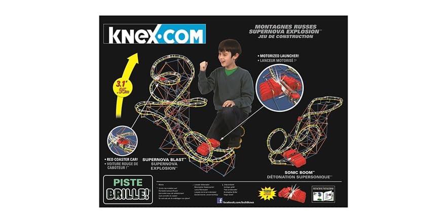 K'NEX Supernova Blast Coaster Building Set - Kids & Toys
