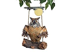 Howie The Hoot Owl Swinging Statue