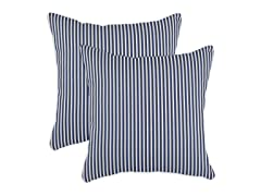 Cornell Indigo 17x17 Pillows - Set of 2